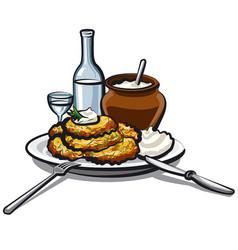 Potato pancakes vector