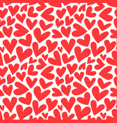 red heart shape love cartoon seamless pattern vector image