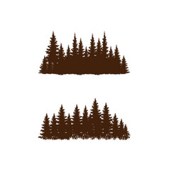 Retro-style pine forest silhouette design vector