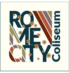 Rome t-shirt for woman vector image