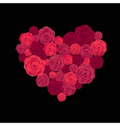 Rose heart isolated on white vector image