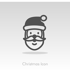 Santa Claus face Christmas icon vector