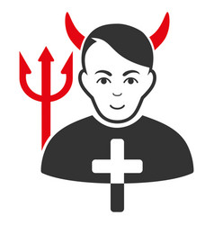 Satan priest icon vector