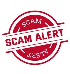 Scam alert stamp isolated on white vector