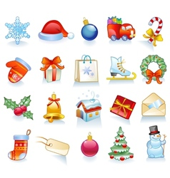 Set of Christmas symbols vector