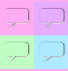 set pastel speech bubbles vector image