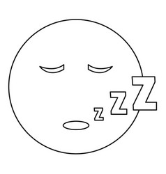 Sleep smile icon thin line vector