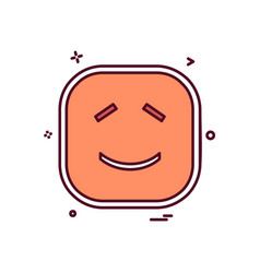 smile emoji icon design vector image
