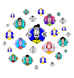social network people communicate flat the icons vector image
