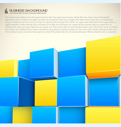 structure from cubes business background vector image