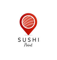 suhsi point logo designs for food company vector image