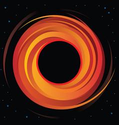 supermassive black hole vector image