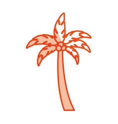 tropical leaf summer icon vector image
