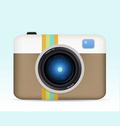vintage color camera vector image