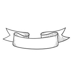 vintage ribbon frame manuscript or badge icon vector image