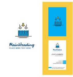 Water evaporation creative logo and business card vector