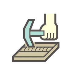 Weld slag and removing icon vector
