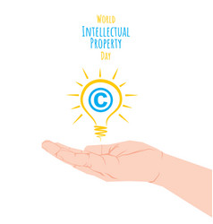 World intellectual property day vector