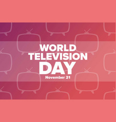 World television day november 21 holiday concept vector