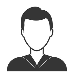 Young male profile in black and white colors vector image