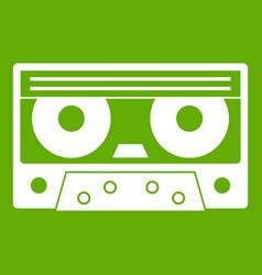audio cassette tape icon green vector image