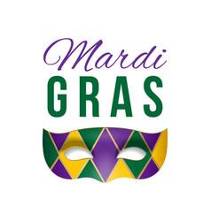 card for mardi gras masquerade vector image vector image