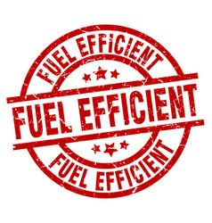 Fuel efficient round red grunge stamp vector