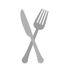 Gray knife and fork icon design vector image vector image