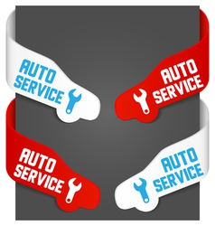 left and right side signs - auto service vector image vector image