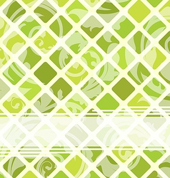 Mosaic template with floral ornament vector image vector image