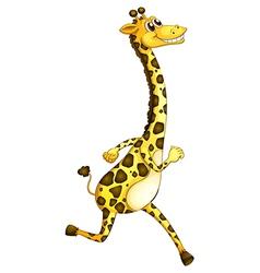A giraffe running vector image