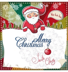 Christmas Card Merry Christmas lettering EPS 10 vector image vector image