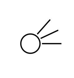comet icon vector image