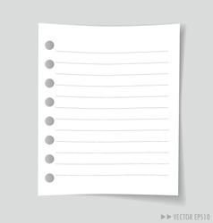 Empty white note paper vector