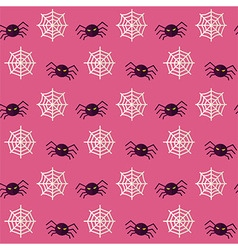 Flat Seamless Scary Spider Halloween Pattern vector image vector image