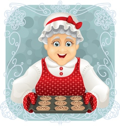 Granny Baked Some Cookies vector image