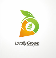 logo design for locally grown farm fresh products vector image vector image
