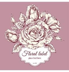 Luxury rose card vector image