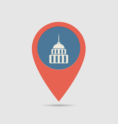 map pin government vector image vector image