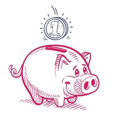 Piggy Bank Drawing vector image