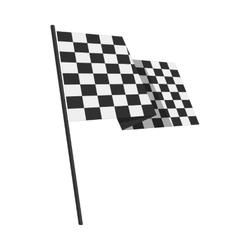 Racing finishing flag pictogram vector image