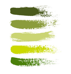 set of grunge brush strokes set of vector image