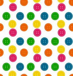 Button Seamless Pattern Background vector image vector image