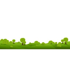 landscape panorama vector image vector image