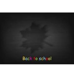 Maple leaf on black chalkboard vector