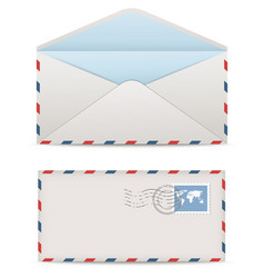 Postage envelopes with stamps vector image vector image