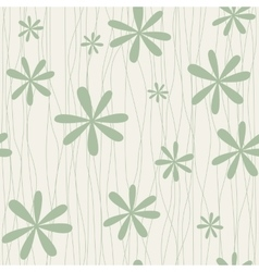 Retro floral background with camomiles vector image vector image