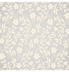 Seamless swirl floral background vector image vector image