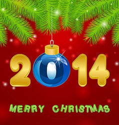 Christmas gold New Year background vector image vector image