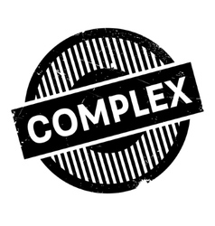 Complex rubber stamp vector